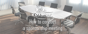 How to conduct a sponsorship meeting